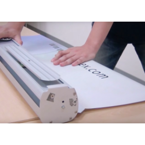 replacing roller banner graphics