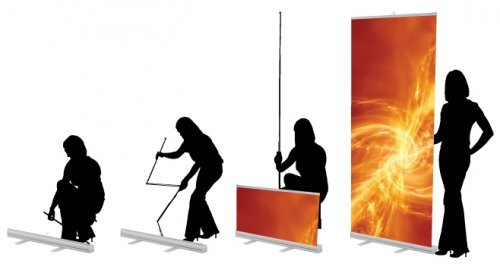 roller banner, roll up instructions